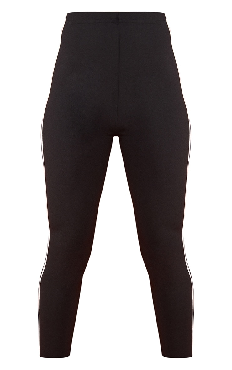Black High Waisted Track Leggings 6