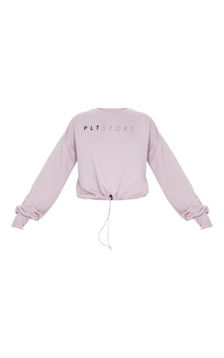 PRETTYLITTLETHING Mauve Basic Gym Sweat Top 3