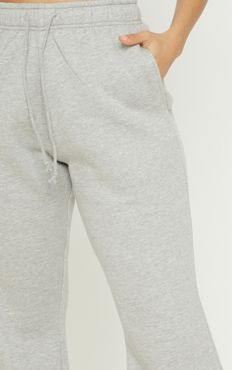 Grey Drawstring Waist Flare Leg Sweat Jogger 5