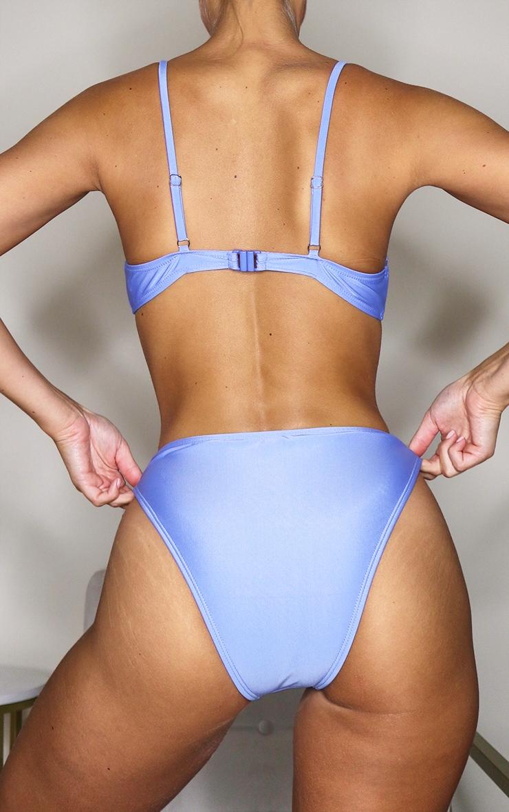 Cornflower Blue Mix & Match Cheeky Bum Bikini Bottoms 3