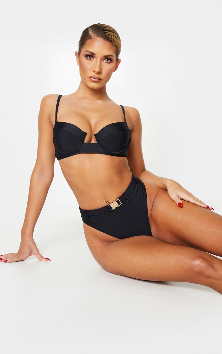 Black Cupped Balconette Bikini Top 1