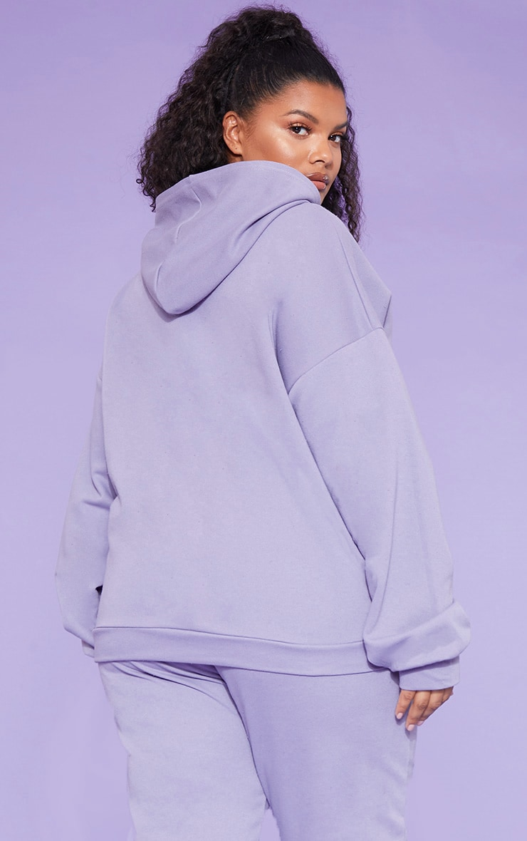 RECYCLED Plus Violet Oversized Hoodie 6