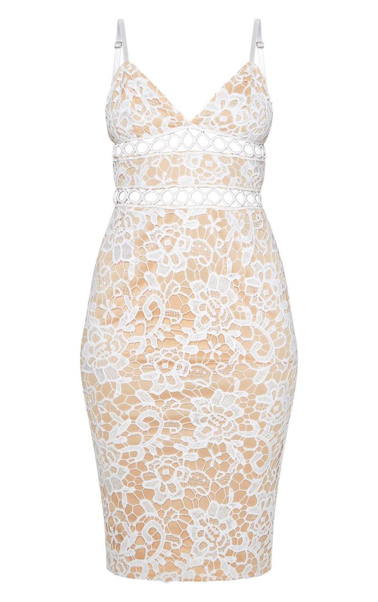 White Lace Cami Midi Dress 3