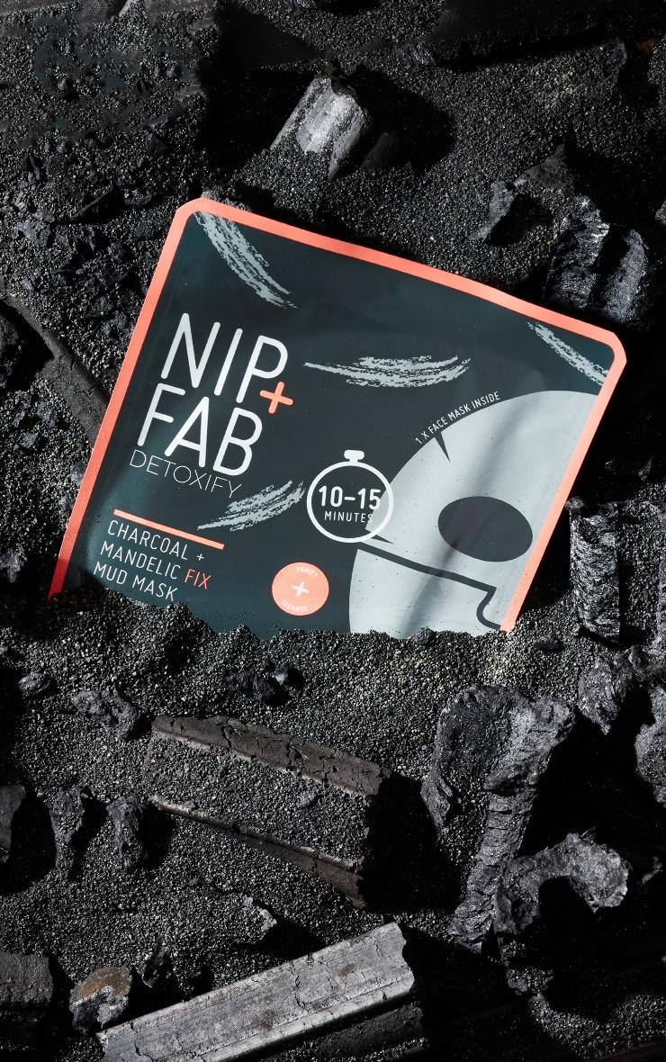 NIP+FAB Charcoal and Mandelic Fix Mud Sheet Mask 1