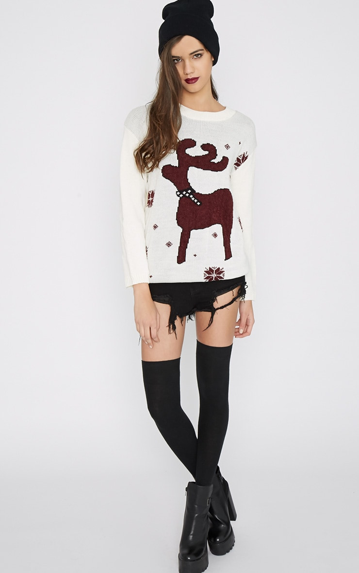 Noelle Cream Reindeer Jumper-One Size 6