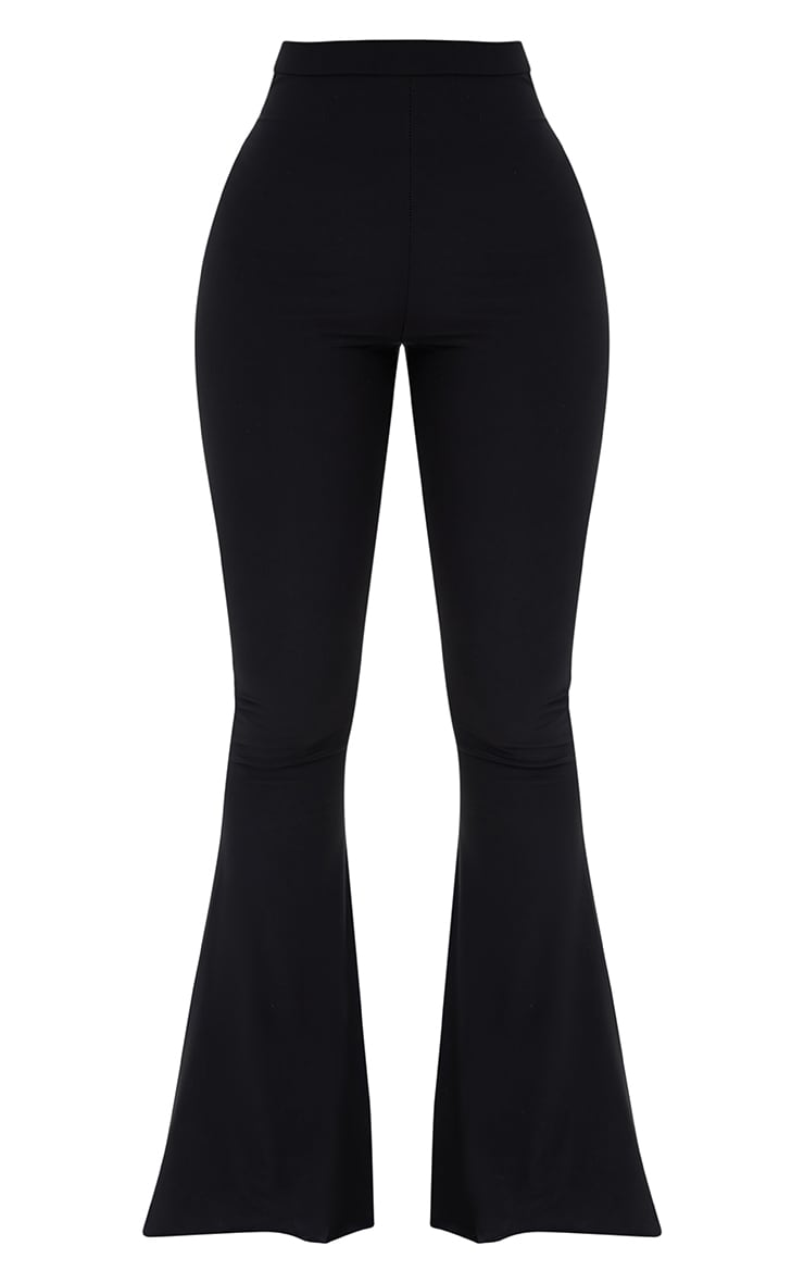 Shape Black Slinky Flared Leg Trousers 3