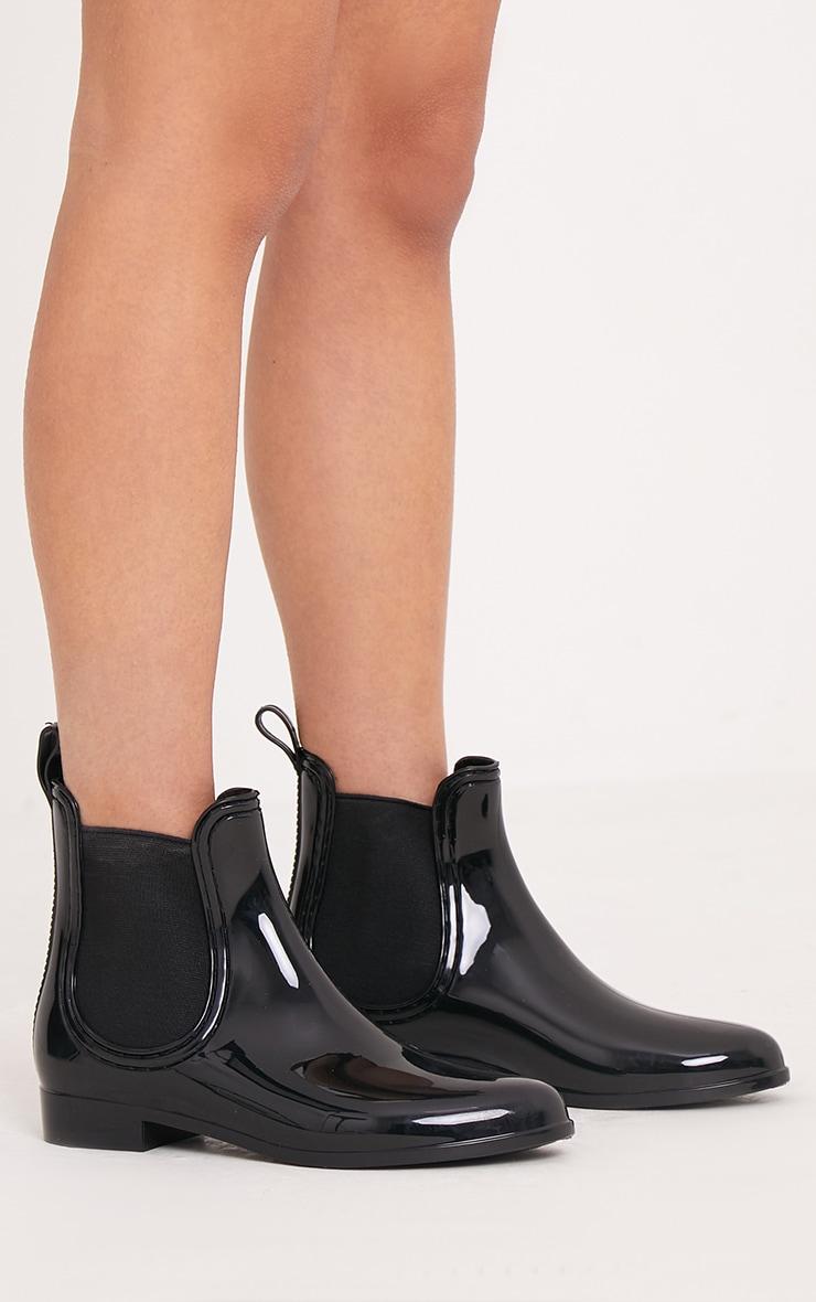 Tamia Black Chelsea Rain Boots 3
