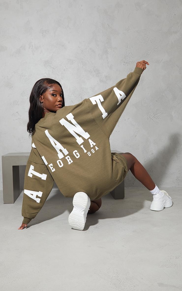 Tall Sage Atlanta Georgia  Graphic Sweatshirt Dress 1