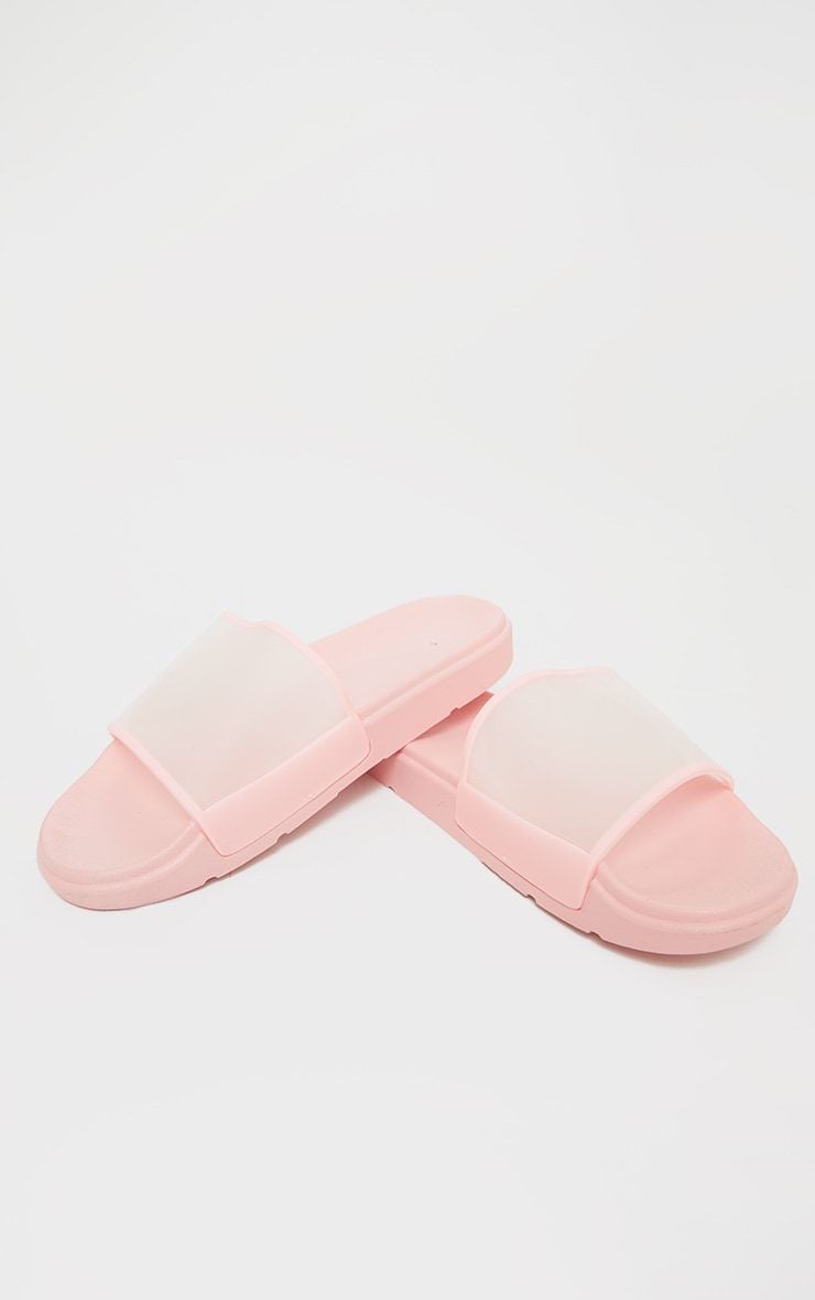 Pink Transparent Chunky Sliders 3