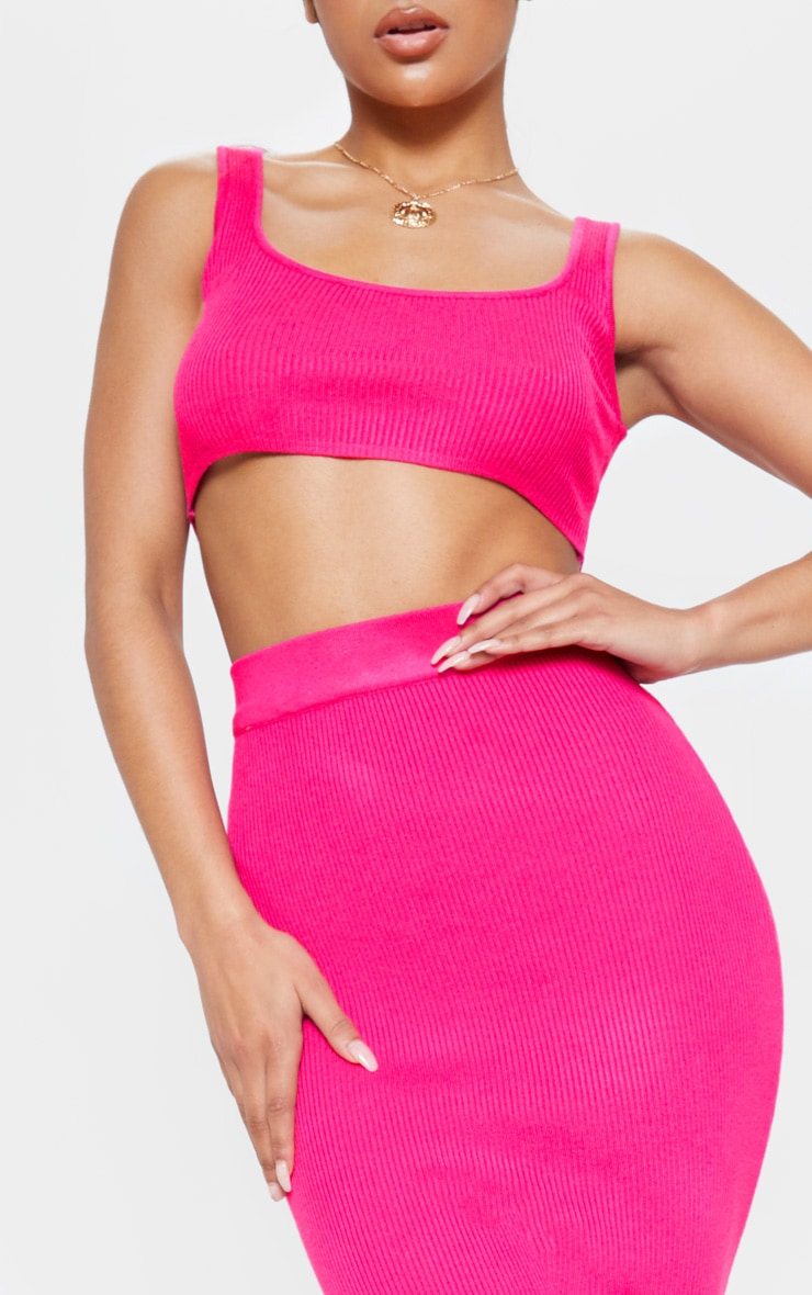 Pink Knitted Ribbed Co Ord  5