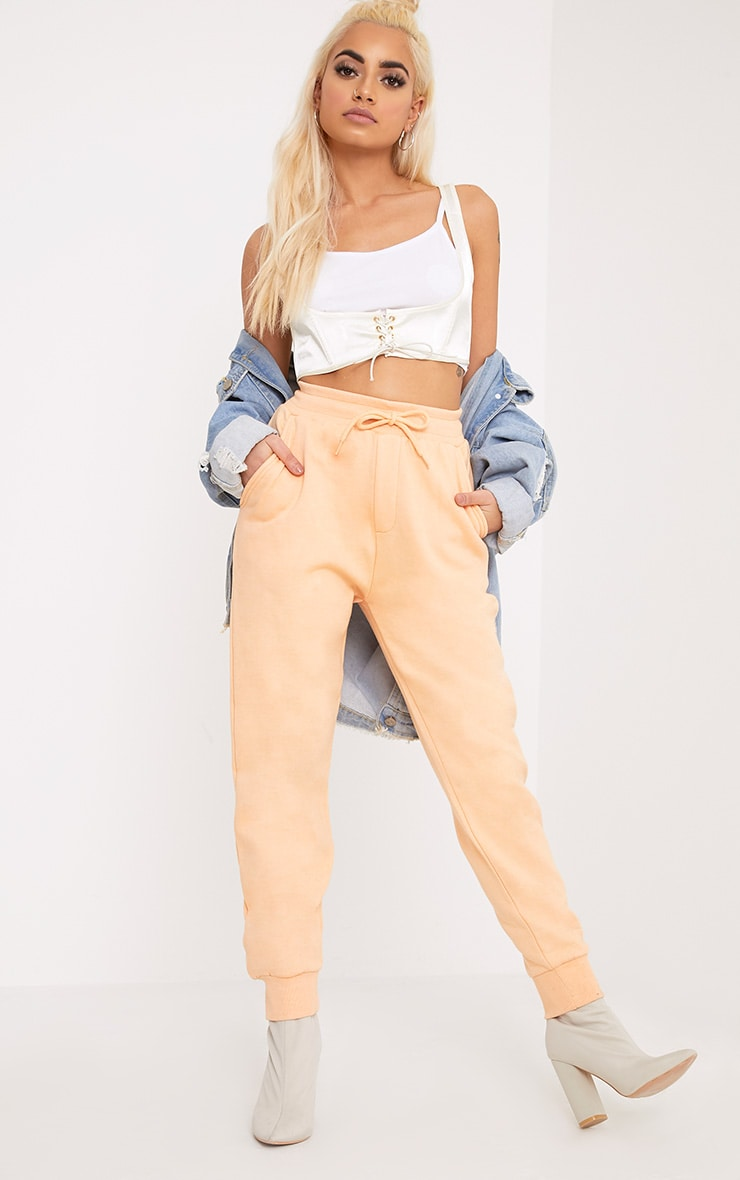 Bruna Peach Sweat Joggers 1