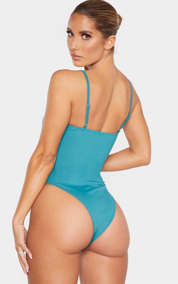 Emerald Hammered Belt Swimsuit 2