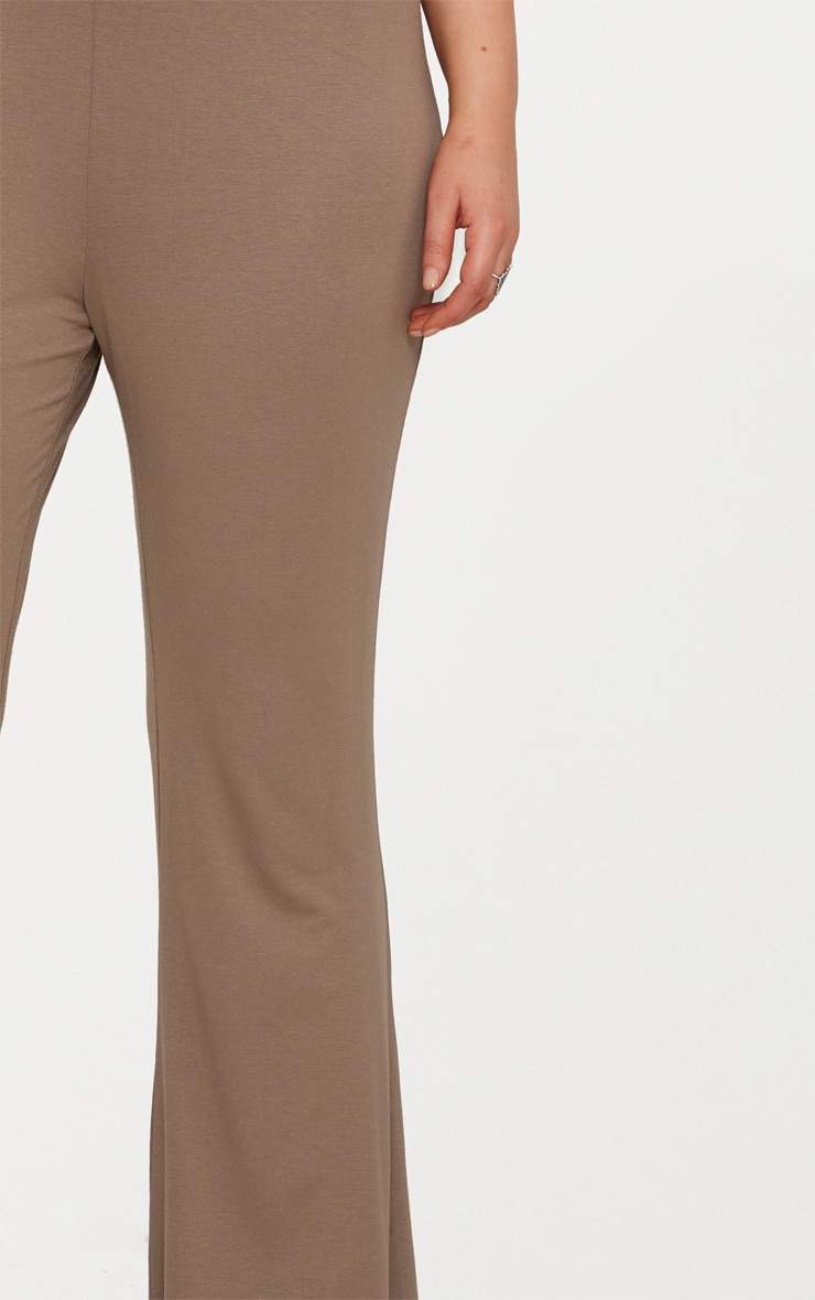 Plus Mocha Basic Flared Trousers 5