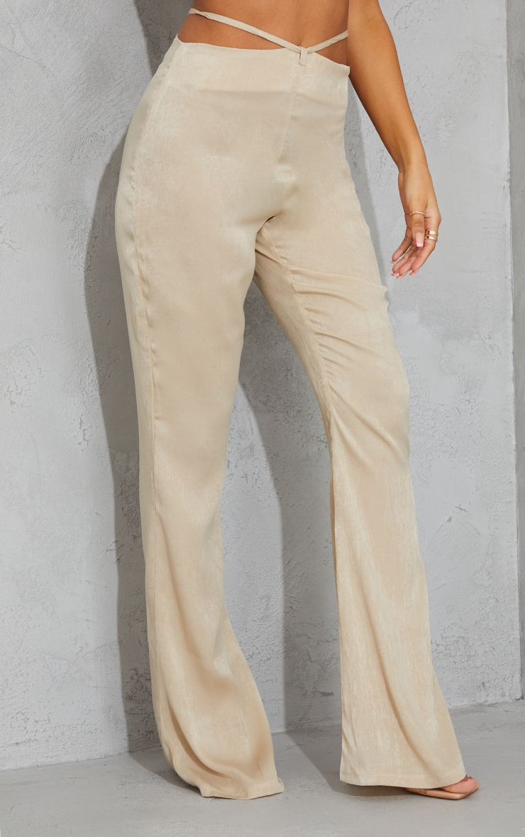 Stone Tie Waist Shimmer Flared Pants 2