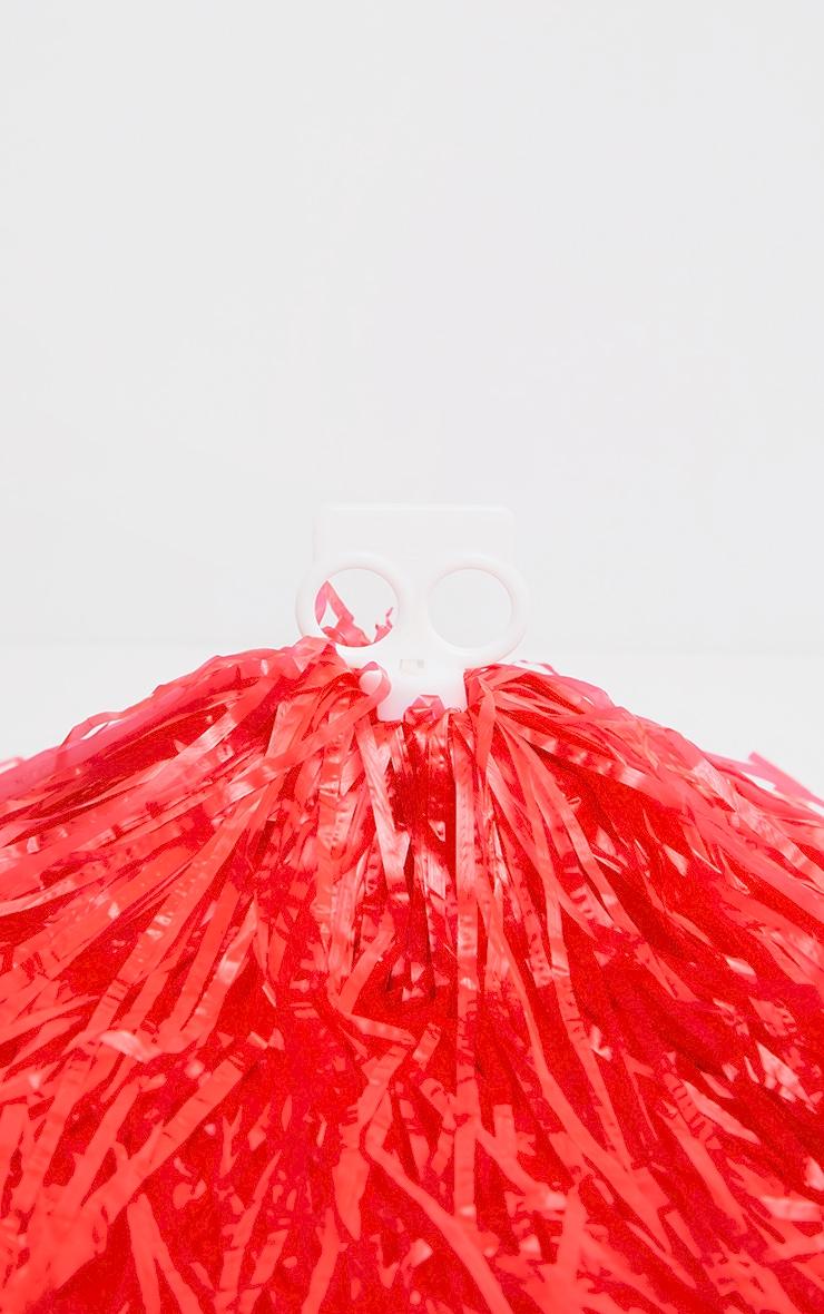 Red Cheerleader Pom Poms 4
