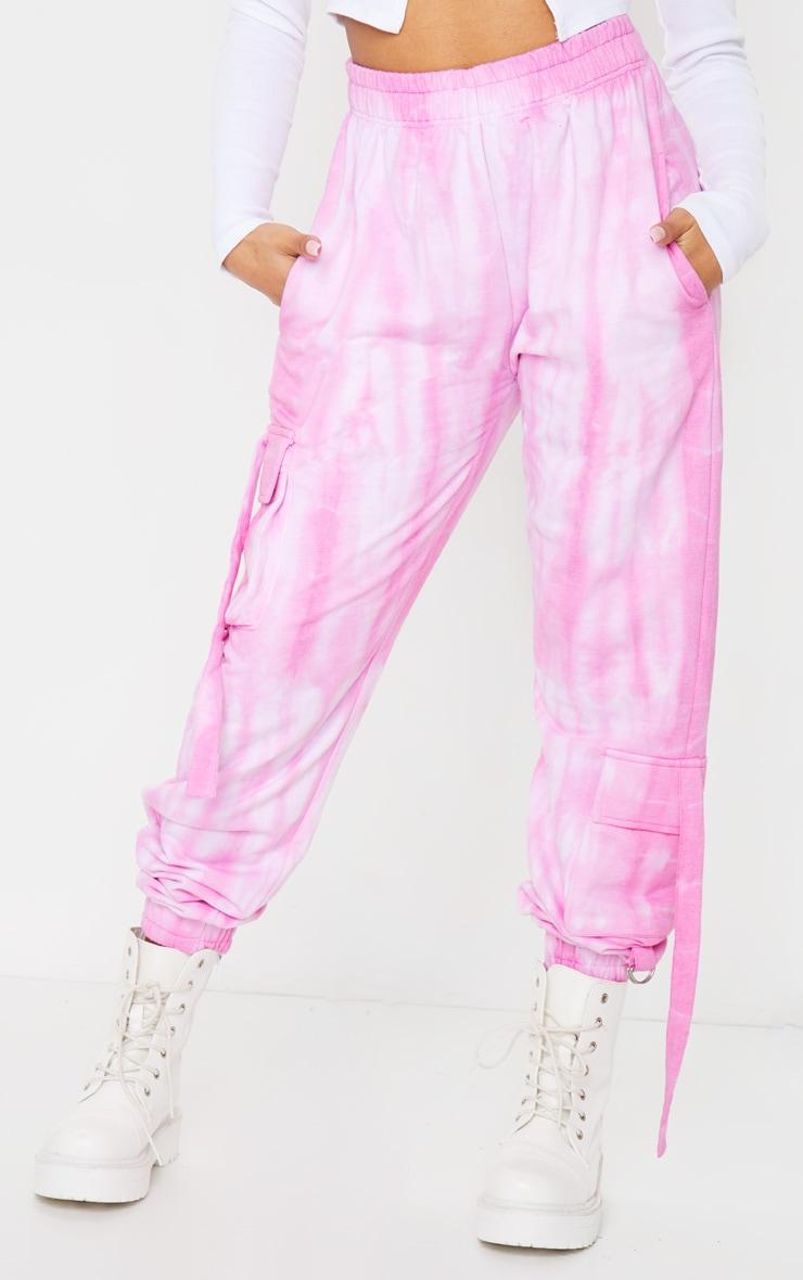 Petite Pink Cargo Tie Dye Joggers 2