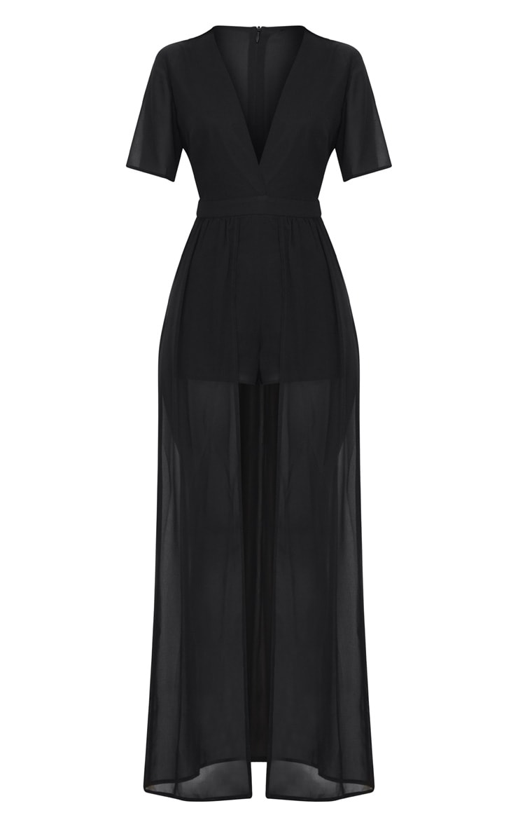 Black Maxi Overlay Playsuit 3