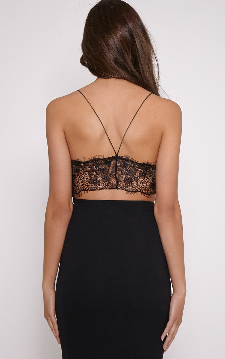 Tonia Black Lace Back Detail Midi Dress 2