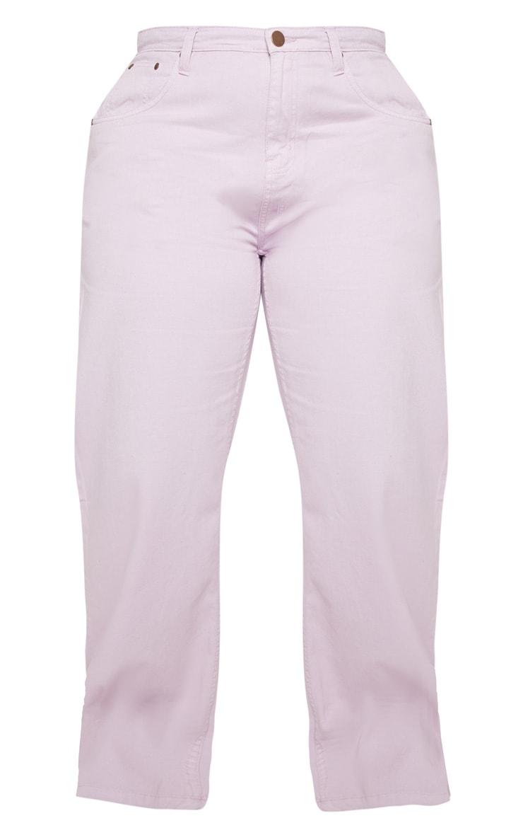 Plus Lilac Extreme Wide Leg Jean 3