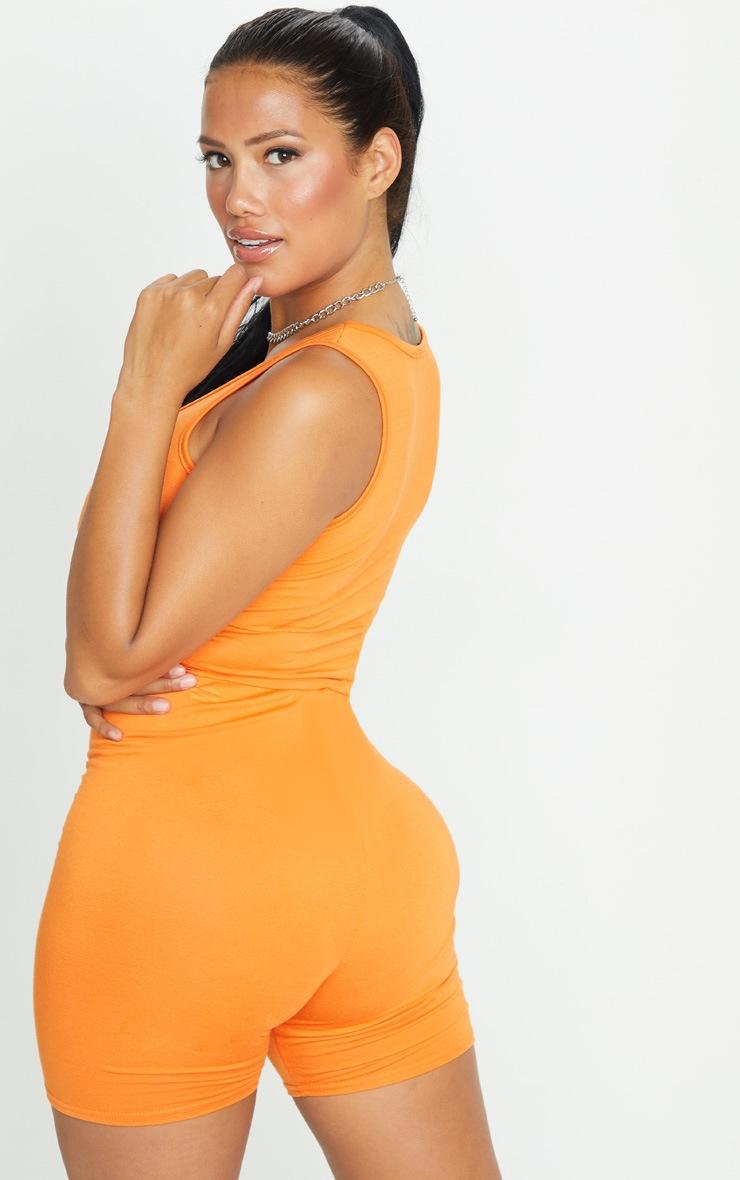 Shape Orange Jersey Scoop Neck Crop Top 2