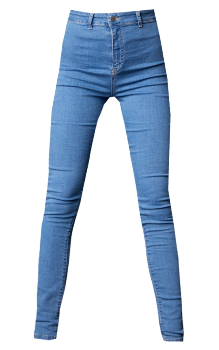 Tall Light Wash Super Stretch Skinny Jeans 5