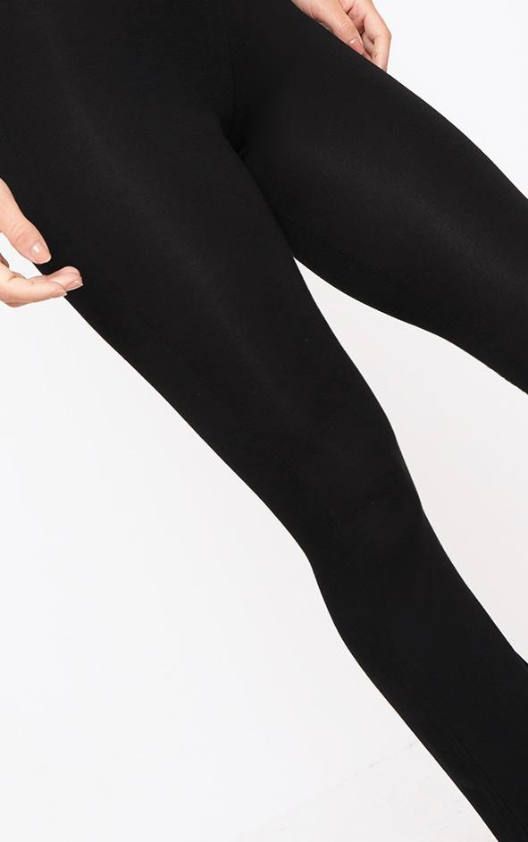 Petite Black Basic Flare Leg Pants 5