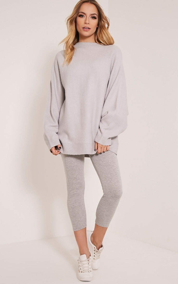 Raysa Silver Oversized Knitted Jumper 5