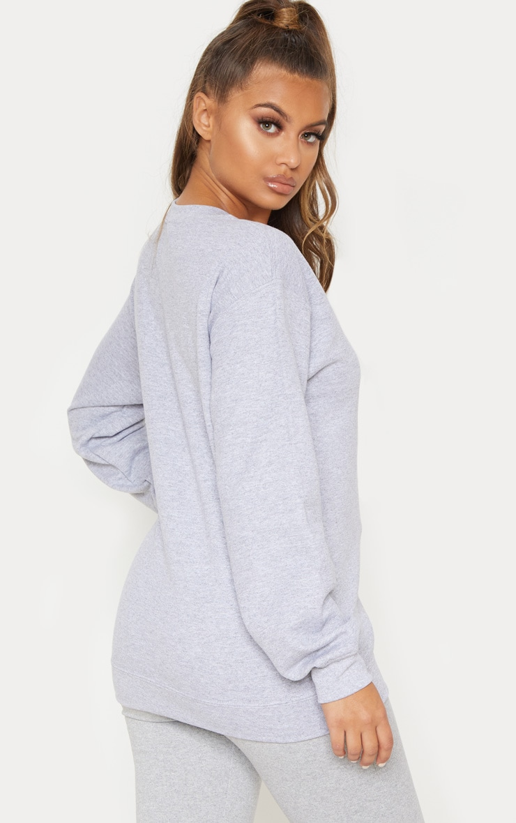 PRETTYLITTLETHING Grey Marl Sweater 2