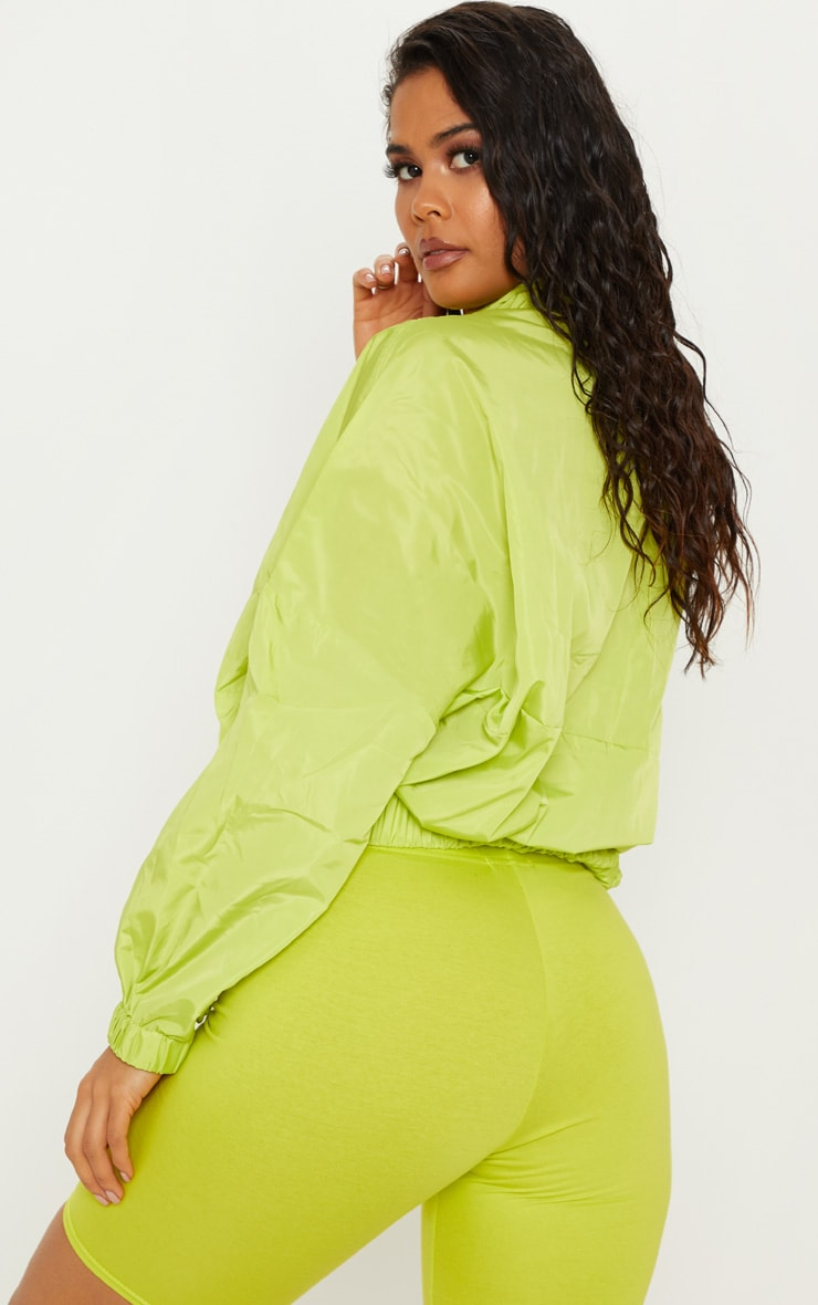 Neon Lime Oversized Windbreaker  2