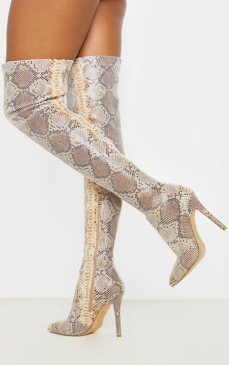 Snake Thigh High Sock Boot 1