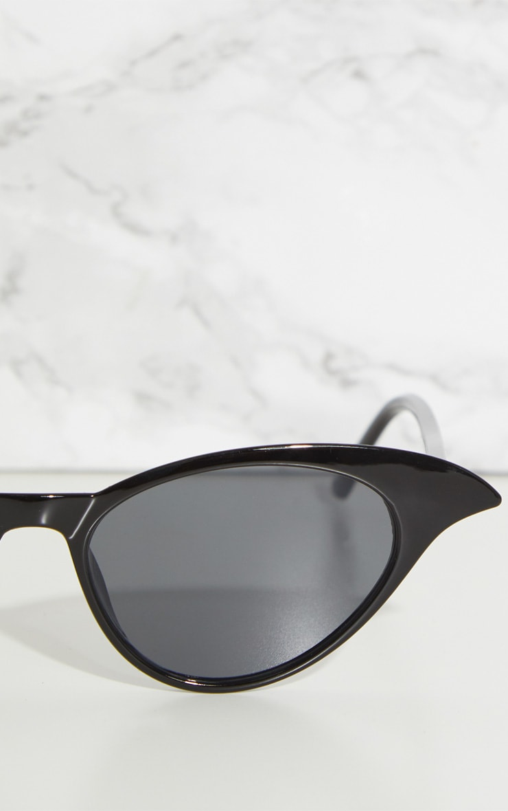 Black Drop Cat Eye Sunglasses 4