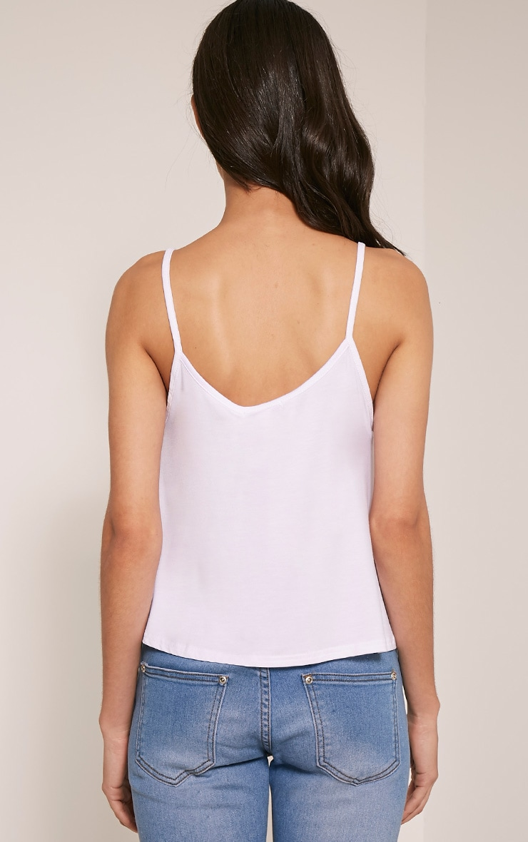 Basic White Jersey Swing Cami Top 2