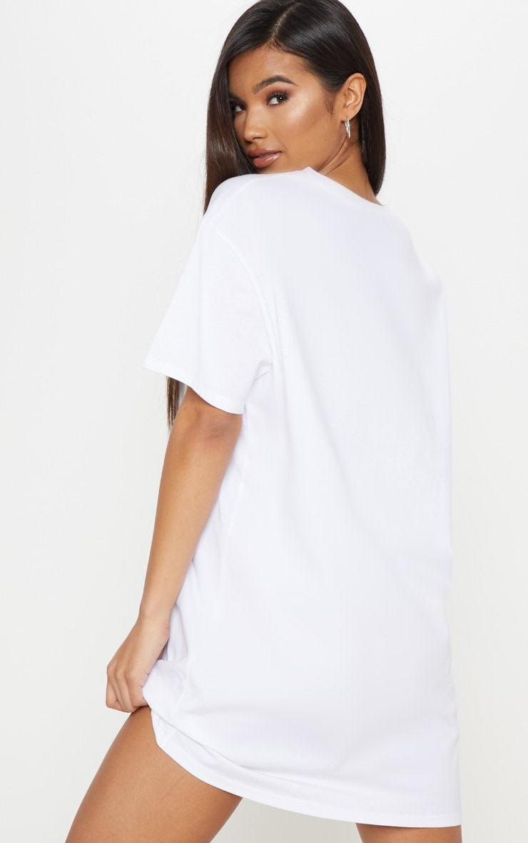 White Toy Story Alien Boyfriend T Shirt Dress 2