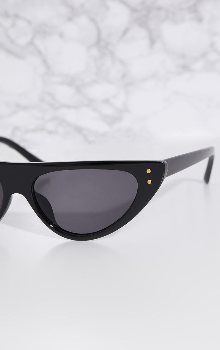 Black Full Frame Retro Sunglasses 3