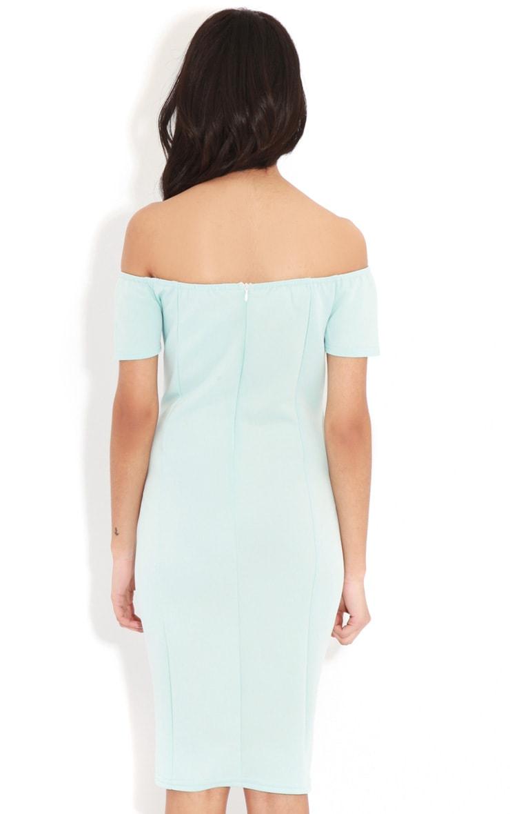 Sadia Baby Blue Off The Shoulder Dress 2
