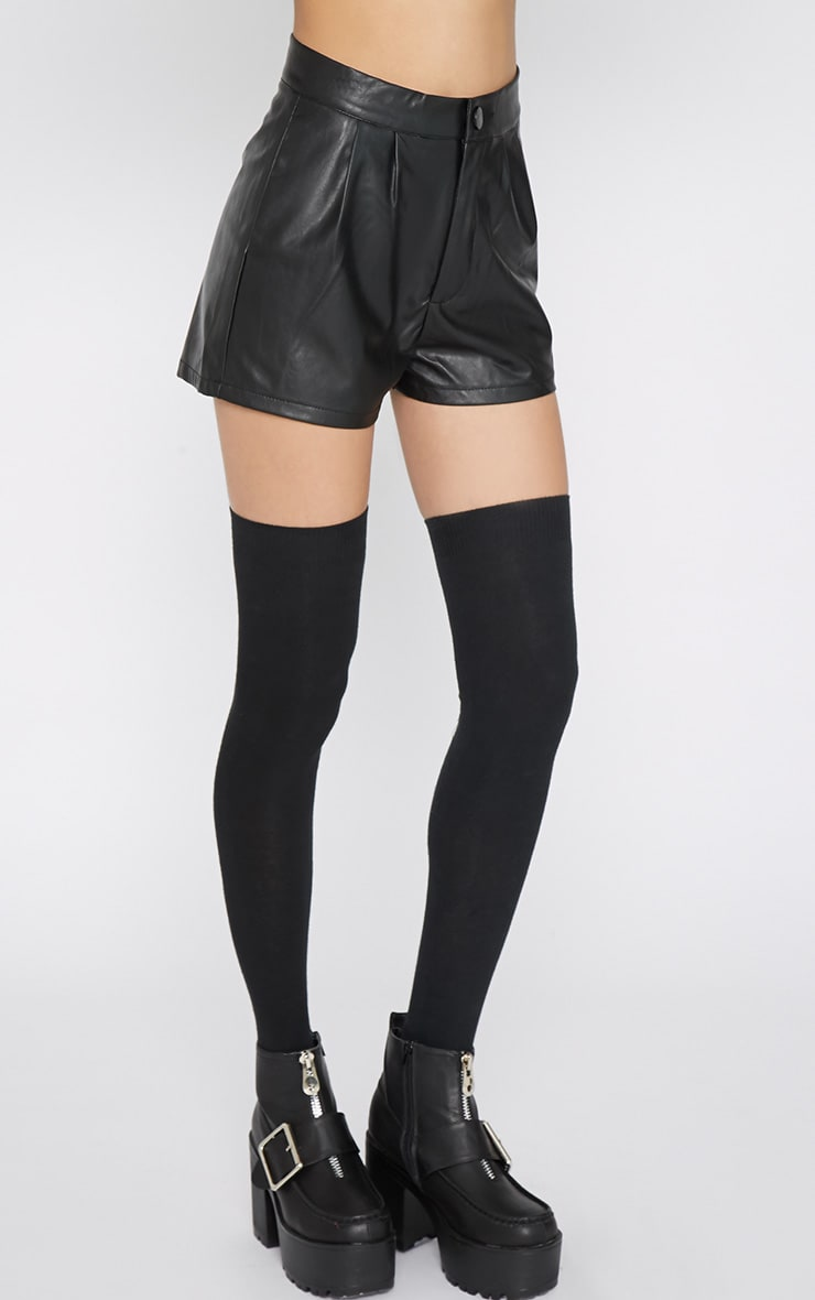 Misha Black Leather Short 6