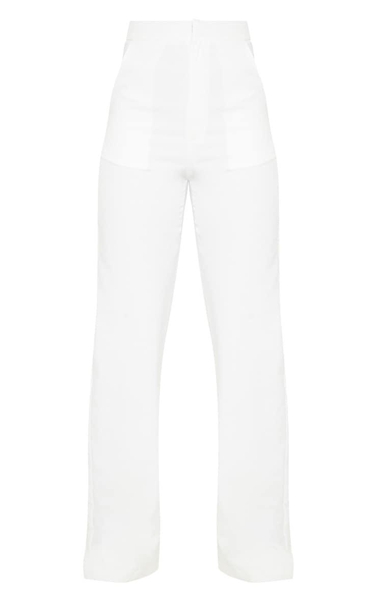 Tall Cream High Waist Wide Leg Trouser 3