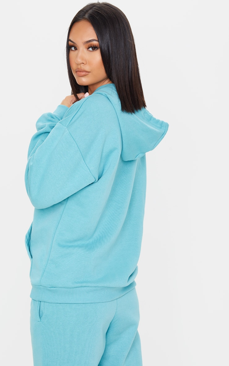 Dusty Turquoise Oversized Ultimate Hoodie 2