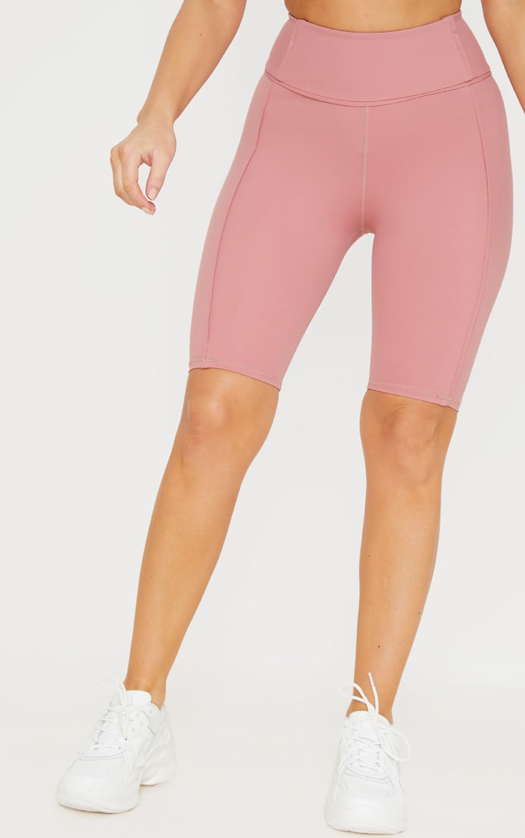 Dusty Pink High Waist Cycle Shorts 2