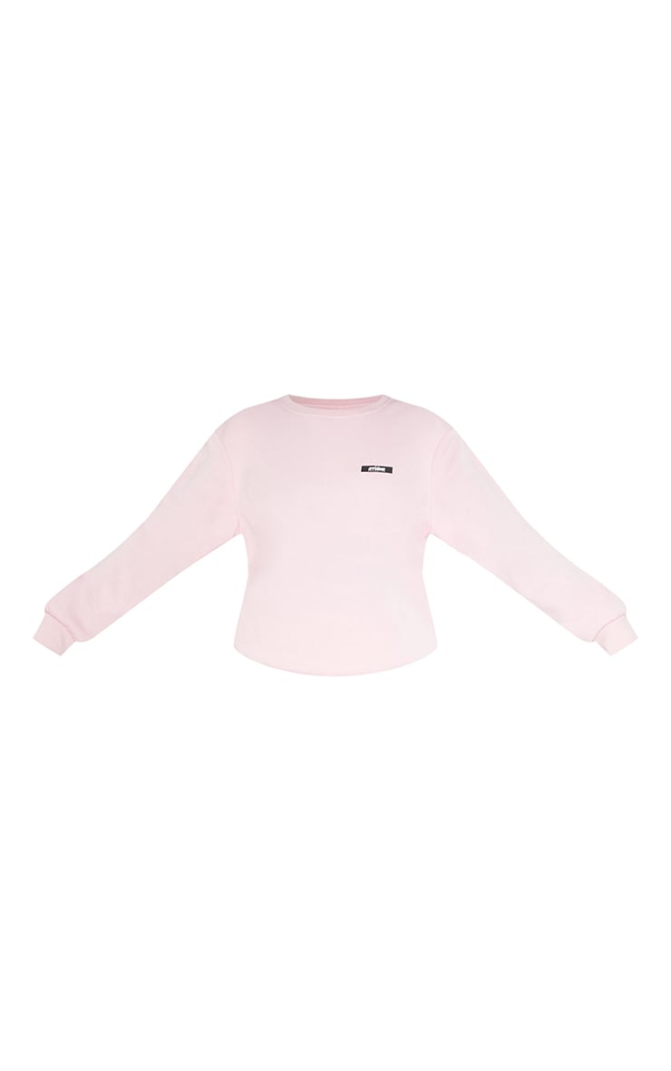 PRETTYLITTLETHING Tall Pink Studio Oversized Sweater 5