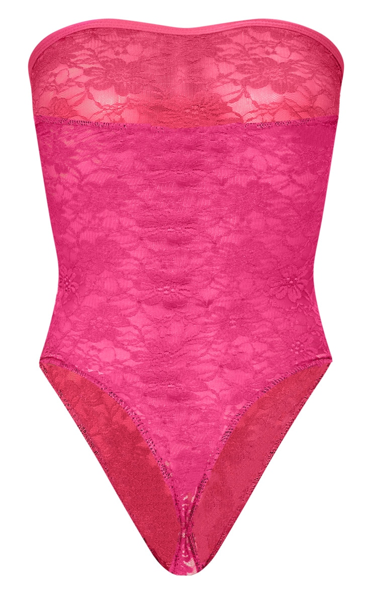 Pink Strapless Lace Body 4