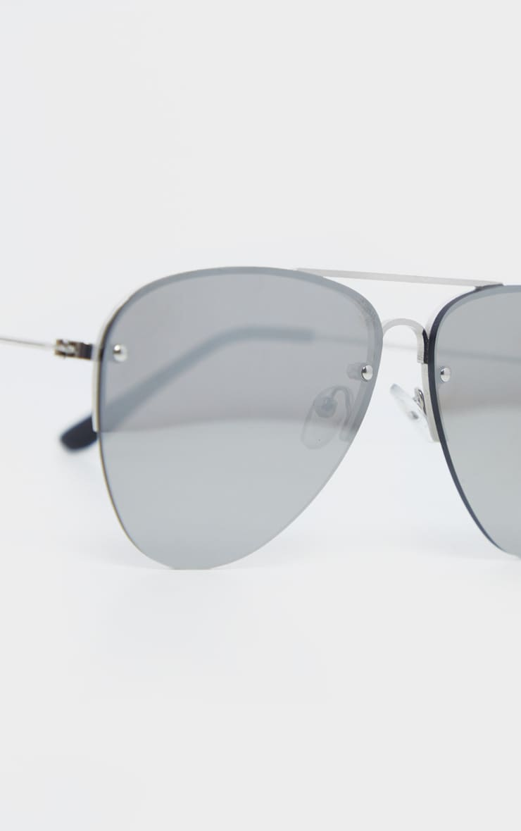 Silver Revo Aviator Sunglasses  4