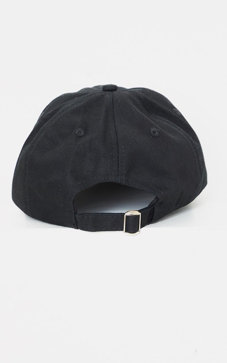 PRETTYLITTLETHING Black Tag Baseball Cap 4