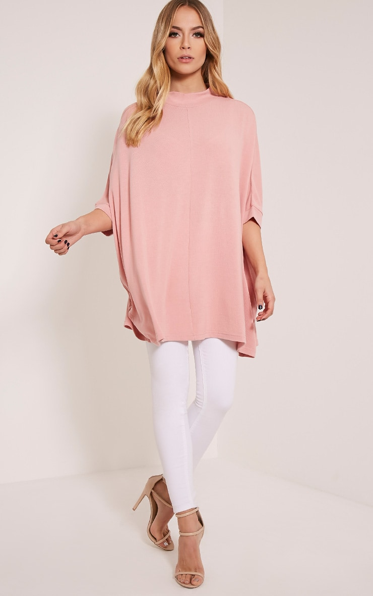 Lottia Blush Oversized Batwing Jumper 4
