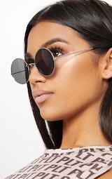 Silver Frame Small Round Sunglasses 2