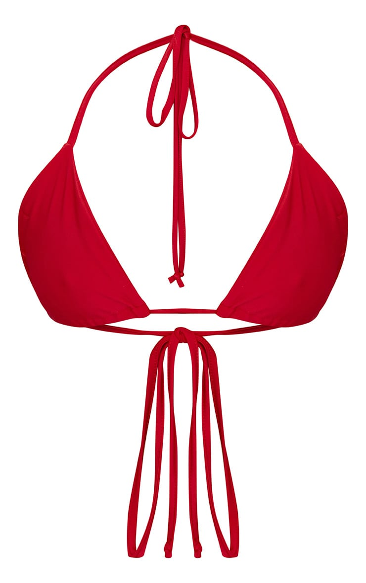 Red Mix & Match Triangle Bikini Top 6