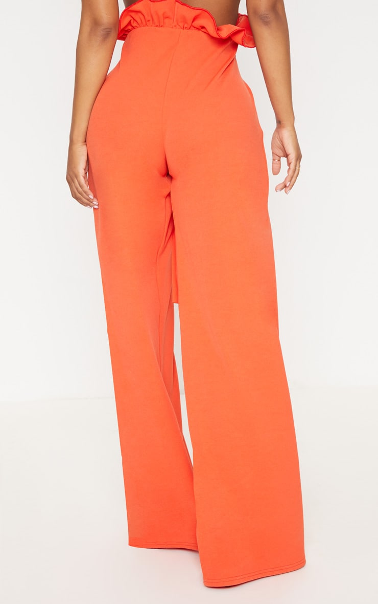 Shape Orange High Waist Paperbag Wide Leg Trousers 4