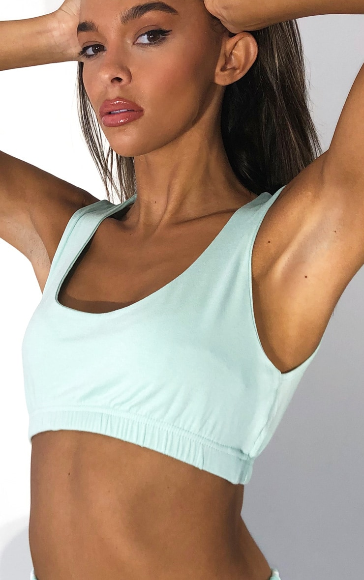 Mint Scoop Neck Crop Top 4