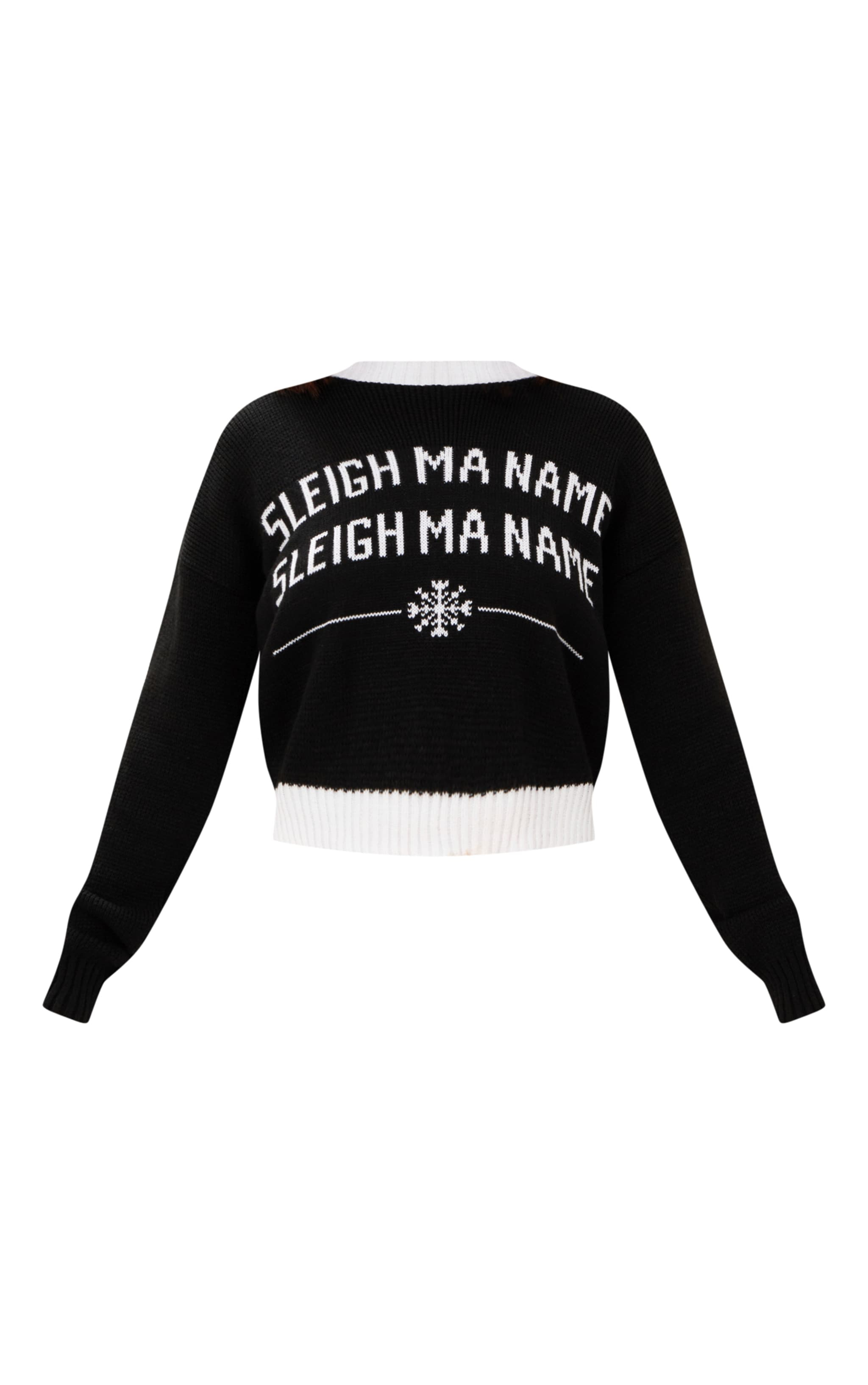 Black Sleigh Ma Name Christmas Jumper 3