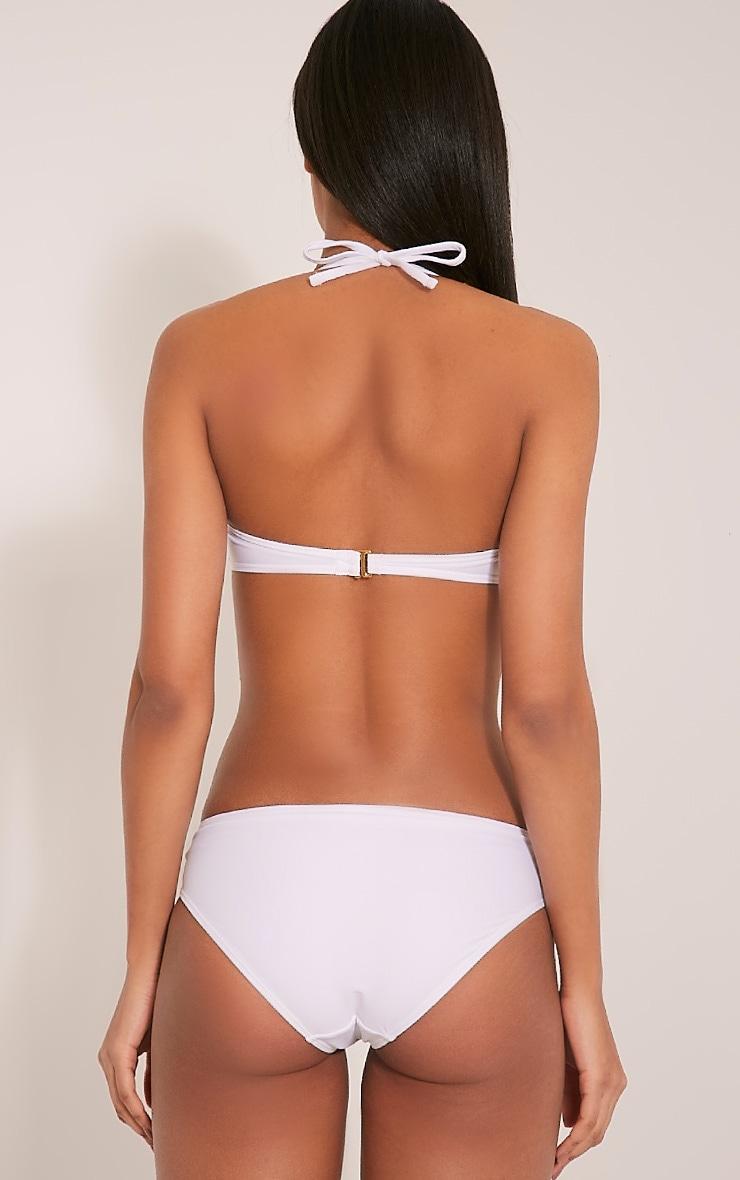 Gianna White Chain Detail Bikini 2
